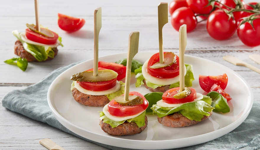 Mini burger bites con verdurine estive