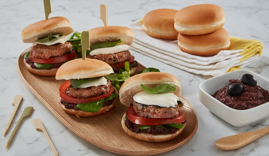 Mini burger all'italiana