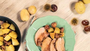 Brasato al Barolo con castagne e patate